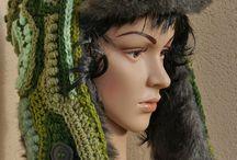 My works-hat,cap, scarf / my work crochet, knitting, freeform crochet,