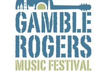Gamble Rogers Festival / Gamble Rogers was a prominent folk musician who influenced many musicians including Jimmy Buffett. He appeared on public television, public radio, and often headlined the Florida Folk Festival. Gamble Rogers Memorial State Recreation Area at Flagler Beach and Gamble Rogers Middle School are named for him. The Gamble Rogers Music Festival takes place each May in St. Augustine. He died a hero in 1991 trying to rescue a man in the surf.