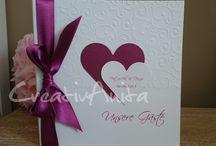 Gästebücher zur Hochzeit / Alle Gästebücher können in Wunschfarbe mit passender Dekoration angefertigt werden www.creativanita.de #gästebücher #erinnerungsbuch #creativanita