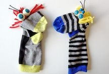 Socks puppets and toys
