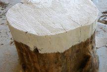 tree stump furniture diy