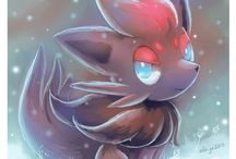 ~Zorua and Zoroark~ / Zoroark is my number 8 and Zorua is my number 11 favourite pokemon. Zorua is so cute but Zoroark has got cooler design for me. I love both of them ♡