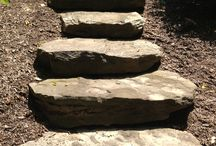 Stone Walls and Steps / Hardscape accents can be functional and beautiful additions to any garden space