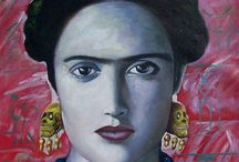 Frida Kahlo Oil Paintings / [Mexican Painter, 1907-1954] , for more please visit http://www.painting-in-oil.com/artworks-Kahlo-Frida-page-1-delta-ALL.html