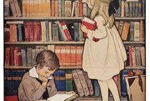 Through the Years / Vintage posters and ads celebrating our love of reading and libraries.  / by Houghton Mifflin Harcourt Books