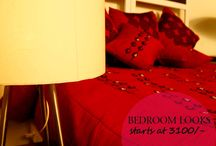 Bedroom makeover ideas / Give an all new look to your bedroom at an affordable price @ www.pinkapple.co.in Grab your look...