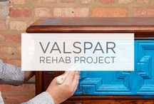 Valspar Rehab Project / The Valspar Rehab Project is our solution to furniture neglect. See before and afters, plus step-by-step instructions on how you can start saving your furniture with Valspar paint. / by Valspar