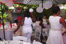 Bexx Secret Garden White Lady Bug Baby Shower / Client's all white with touches of black & red Lady Bug Shower
