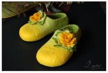plstěné boty,papuče