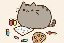 pusheen cica cat macska