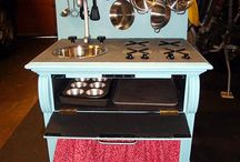 homemade play kitchens / by Jessica Schoonover