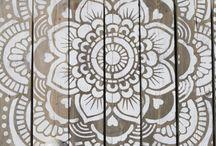 Mandala stencils white / White mandala stencils witte mandala stencils