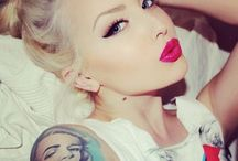 Eyebrows and makeup