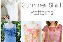 Sy överdelar / Innehåller gratis mönster för att sy toppar, tunikor, blusar, linnen och skjortor m.m. samt tutorial, tips och inspiration.