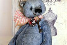 Fabric teddy bear