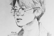 amazing drawings of kpop & my inspirations