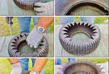 kvetináče a iné vecičky z pneumatík
