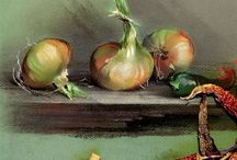 Pastel fruits and vegetables / Here I collect fabulous art pieces, that inspired me