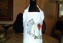 Θήκες Φιαλών/ Μπουκαλιών / Χειροποίητες θήκες μπουκαλιών/ φιαλών σε διάφορα σχέδια και χρώματα.