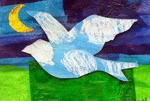 °‿•✿ Arte:collage e mosaici / Esperienze con collage e mosaici per bambini.