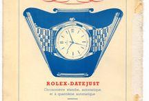 Pubblicità vintage di orologi