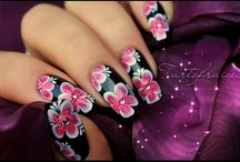 * One Stroke Painting Nail Art Design Ideas / Looking for a lot of Simple Tutorials for nail designs?  If you try one of these designs, please share by posting your photo on my Facebook fanpage www.facebook.com/MyBlissKiss / by Bliss Kiss