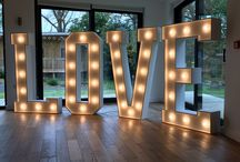 Giant Light Up Letters / If you're looking for something large, bright and very theatrical for your big day, something that will certainly create that 'WOW' factor for your event then our giant light up LOVE letters are the perfect finishing touch!