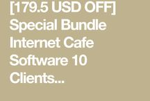 Special Bundle Internet Cafe Software 10 Clients and HotSpot