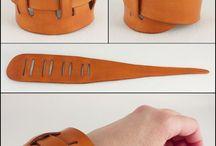 Кожаные манжеты браслеты