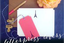 Letterpress Giveaway Contests | Sunlit Letterpress / Letterpress and stationery giveaways from Sunlit Letterpress.