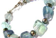 Flourite Gemstone Beads, Flourite Cabohchons and Flourite Handmade Jewelry / Flourite Gemstone Beads, Flourite Cabohchons and Flourite Handmade Jewelry