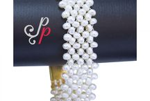Knitted White Pearl Bracelet at Rs.950