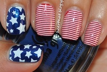 USA theme nails
