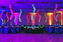 Neon glow party decor