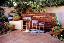 Inspiration: Outdoor Water Features / Here at Out on the Patio, we love water features in backyards.  Check out these ideas!