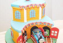 Thomas & Train Cake