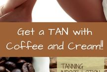 get a tan with coffee and cream