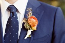 Wedding Boutonnieres / A man in a lovely boutonniere is a true sight to see! From sexy tuxedos to casual daytime attire, there are many ways to wear a floral lapel accessory and look good doing it. As long as it accentuates the overall floral design, anything is fair game!