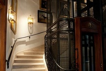 elevator stairs / architectural architect