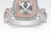 Two Tone Rose Gold and White Gold Engagement Rings
