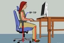 Ergonomic Workspace / Is your work space ergonomic? Is it damaging your long-term health? Most of us spend hours at our desk every day. Bad habits and incorrect posture can lead to short-term pains and aches that can turn into long-term injuries. There are a number of useful tips you should follow to avoid this by maintaining good posture at your workstation.  http://www.ergooffice.co.nz/