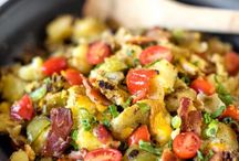 """Potatoes Love Food / Potatoes are celebrating food holidays, too.  National Honey Month?  National Chicken Month?  We're in.  See how we're observing """"favorite food days"""" in these recipes."""