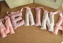 Name Banner - Γιρλάντα με υφασμάτινα γράμματα