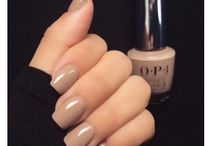 Nude Nails and Hairstyles