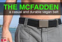 The McFadden Belt / What's up y'all, I'm The McFadden woven belt. My 90's-inspired style goes great with a casual day at the beach or strolling around the city in a pair of jeans and a t-shirt. I'm made of a durable European-made webbing, which is pretty cool, and I've got a pressure buckle, which holds the webbing in place with teeth. That means I'm 100% adjustable to whatever size you like. Perfect for both men and women :) $38.00 www.truthbelts.com / by Truth Belts - Vegan Fashion