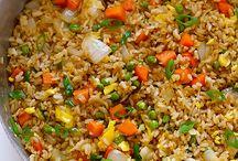 easy dinner/rice/sauces