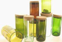 glass bottles up