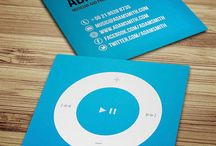 Cool Business Cards / Fun and exciting designs and shapes for business cards!