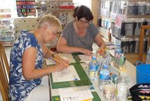 Workshop met Copics door Alexandra van den Berg - 23 juli 2016 / Op 23 juli 2016 gaf Alexandra een workshop met de Copics.