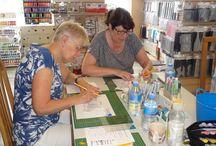 Workshop met Copics door Alexandra van den Berg - 23 juli 2016 / Op 23 juli 2016 gaf Alexandra een workshop met de Copics.